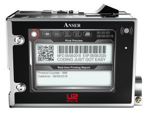 Anser U2 ProS industriële printer